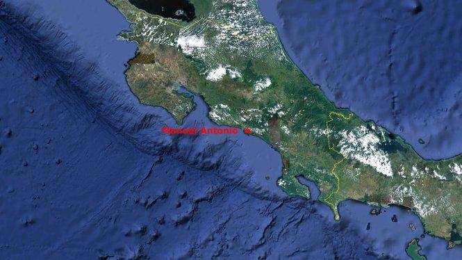 Manuel Antonio is on the Pacific coast of Costa Rica